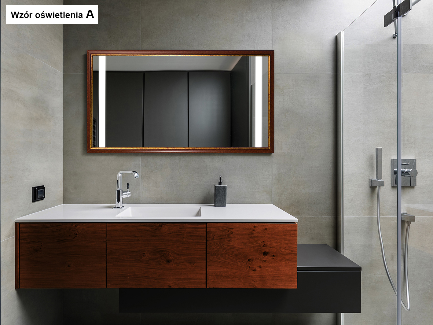 MIRROR WOOD LED SEDNA