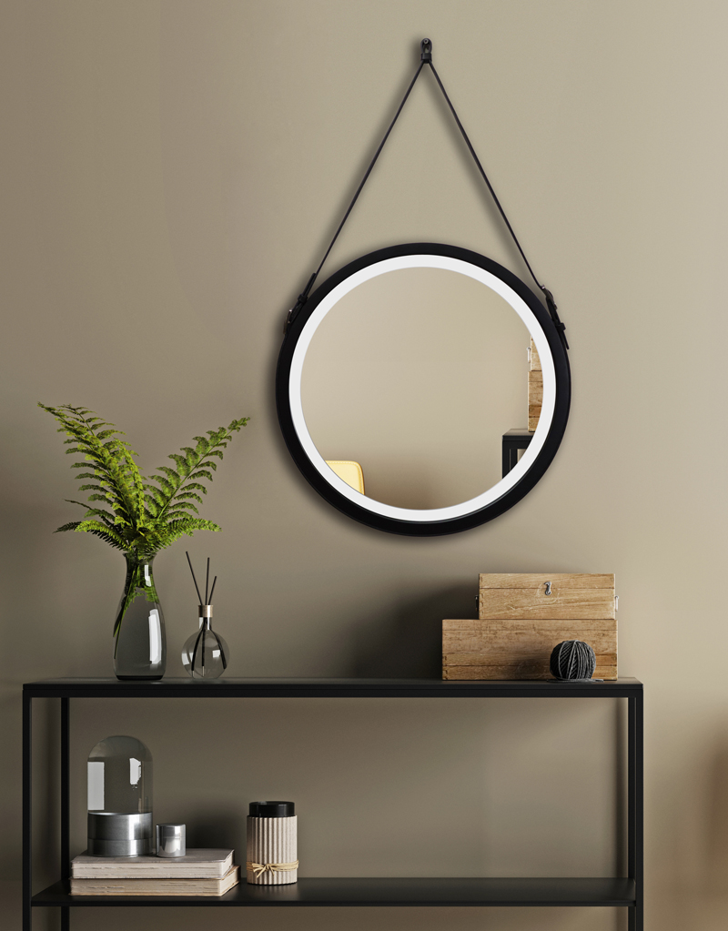 MIRROR BELT LED BLACK