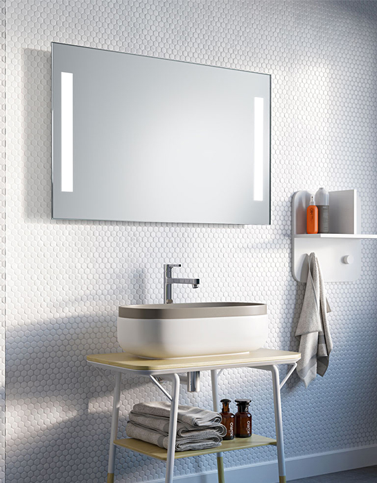 MIRROR DUOLINE LED BATTERY POWERED