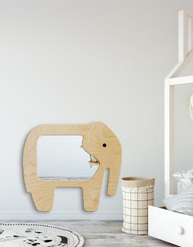 MIRROR ELEPHANT PLYWOOD FRAME