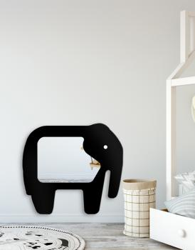 MIRROR ELEPHANT BLACK