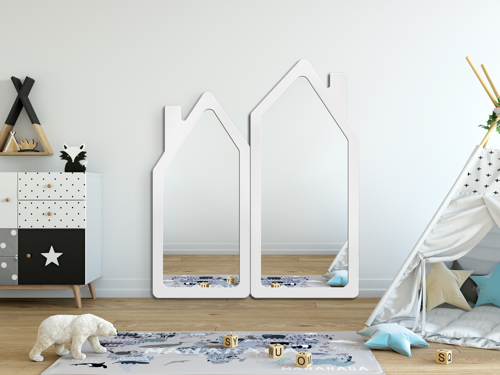 MIRROR HOUSE WHITE