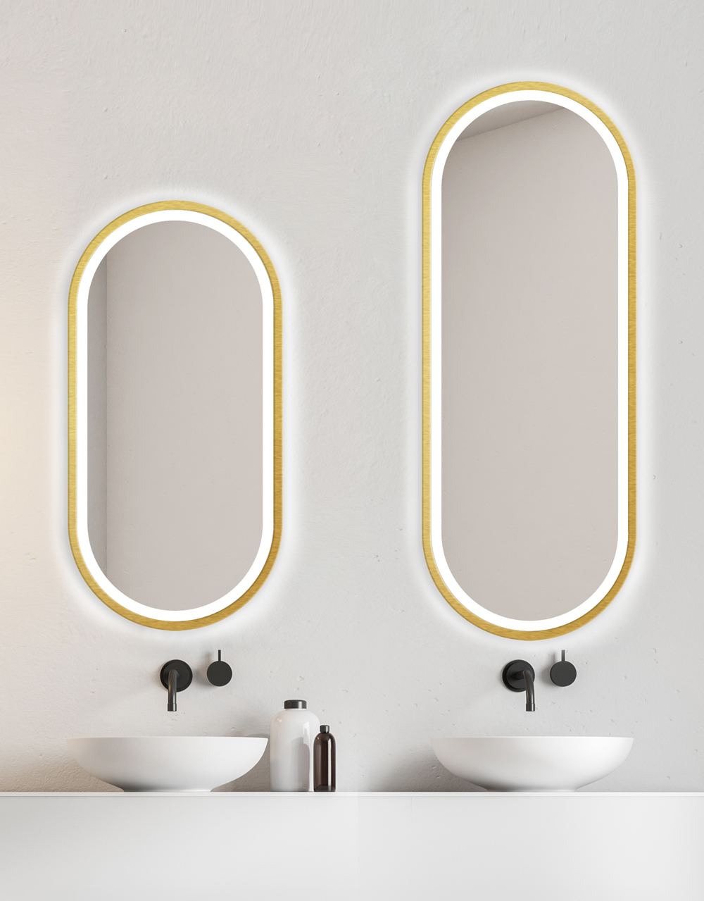 MIRROR LED KORIA GOLD