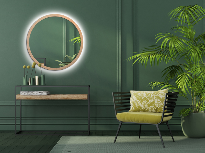 MIRROR LED SCANDINAVIA BOLD Natural
