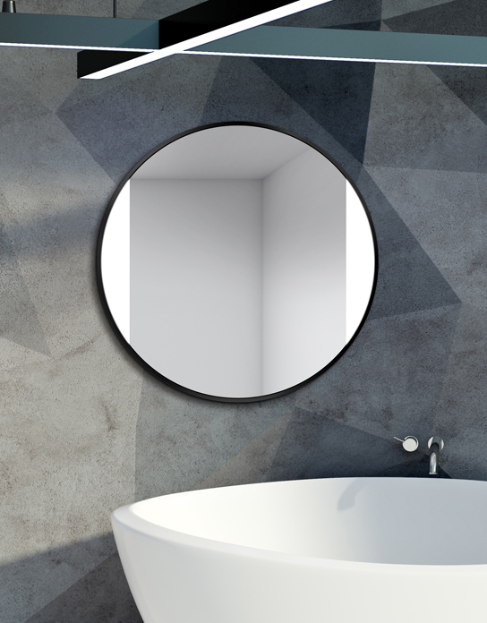 MIRROR LED SIDES BLACK