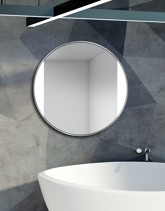 MIRROR LED SIDES SILVER