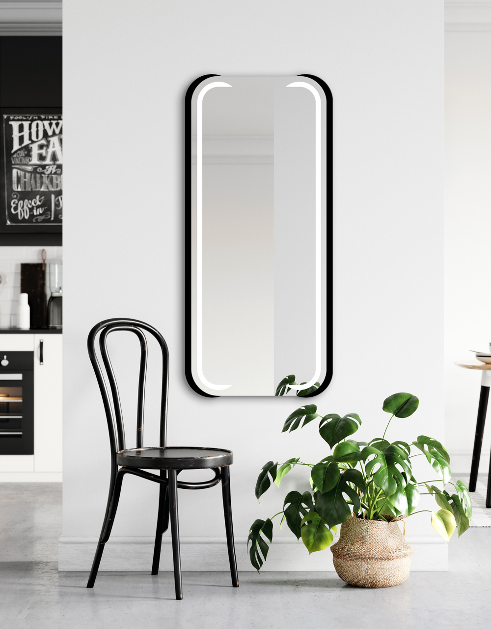 MIRROR MEZALI LED Black