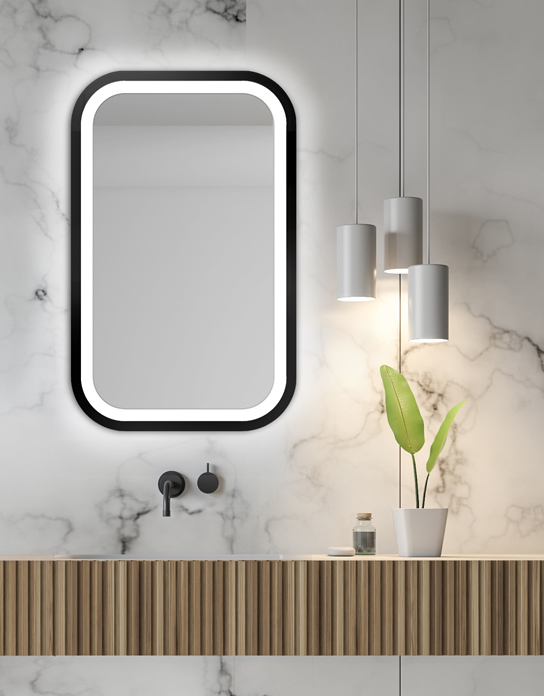 MIRROR LED MIRA BLACK