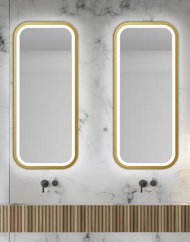 MIRROR LED MIRA GOLD