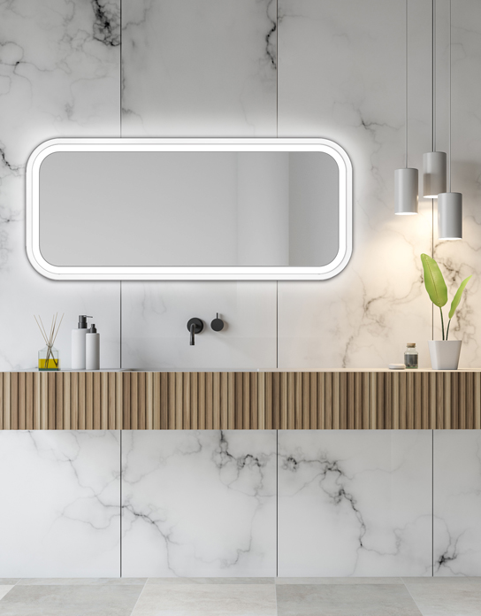 MIRROR LED MIRA WHITE