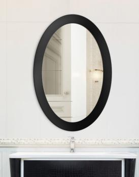 MIRROR OVAL BOLD BLACK