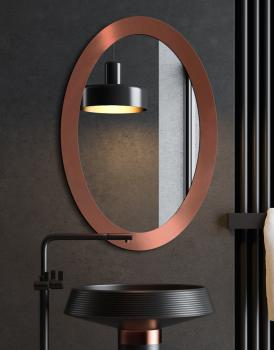 MIRROR OVAL BOLD COPPER