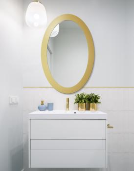MIRROR OVAL BOLD GOLD