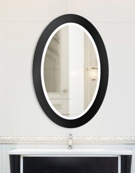 MIRROR OVAL BOLD LED BLACK