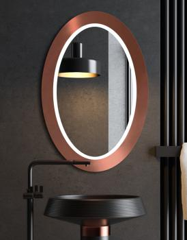 MIRROR OVAL BOLD LED COPPER