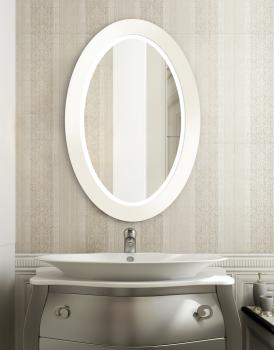 MIRROR OVAL BOLD LED WHITE