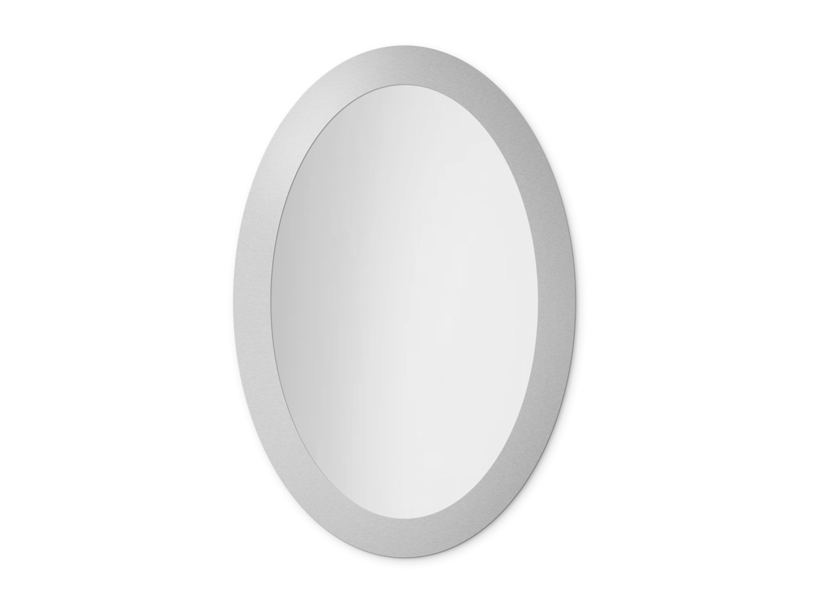 MIRROR OVAL BOLD SILVER
