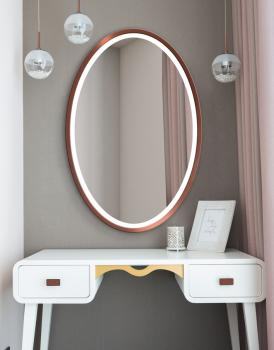 MIRROR OVAL LED COPPER