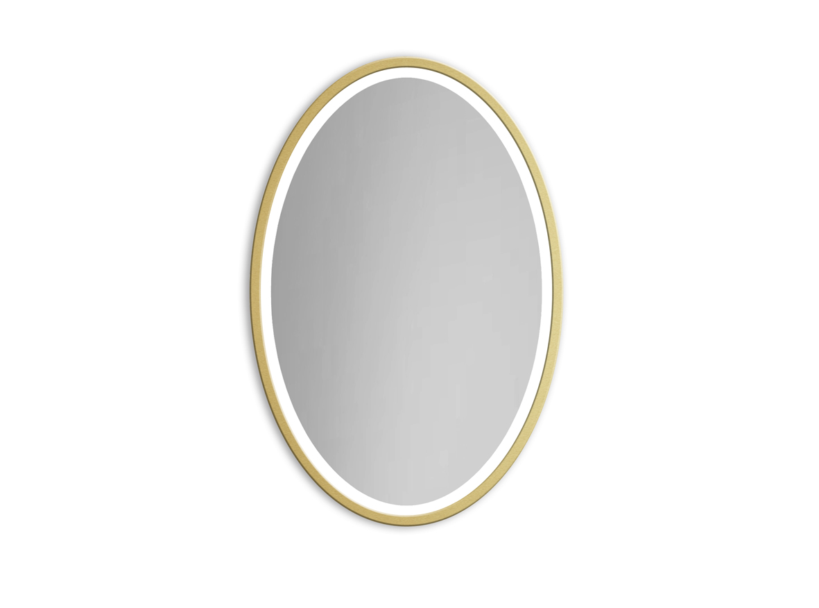 MIRROR OVAL LED GOLD