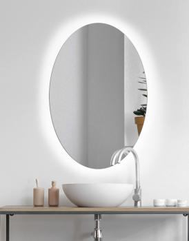 MIRROR OVAL LED SIMPLE DESIGN