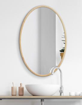MIRROR OVAL NATURAL