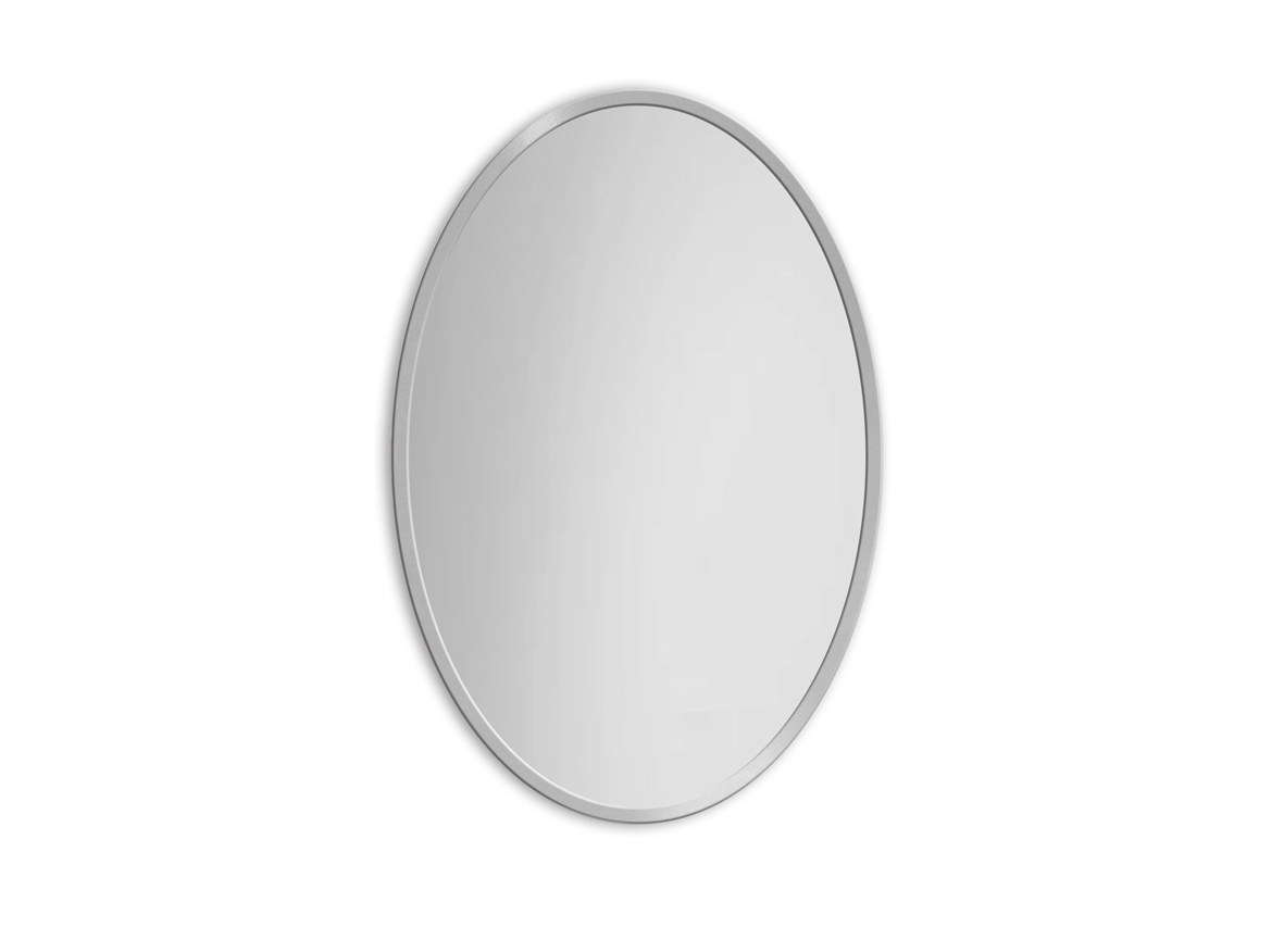 MIRROR OVAL SILVER