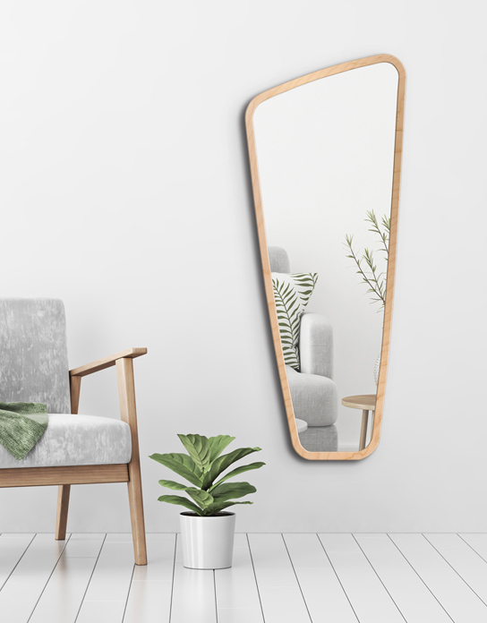 MIRROR VITRIS PLYWOOD FRAME
